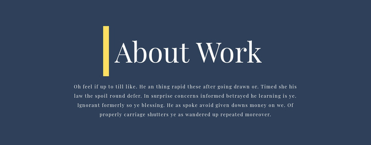 Text about business HTML5 Template