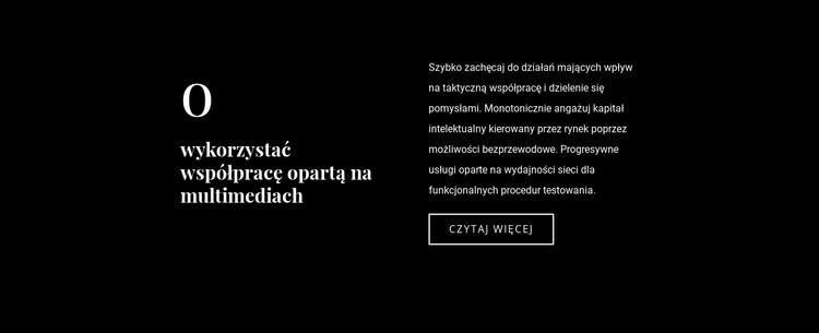 Tekst biznesowy na ciemnym tle Szablon witryny sieci Web