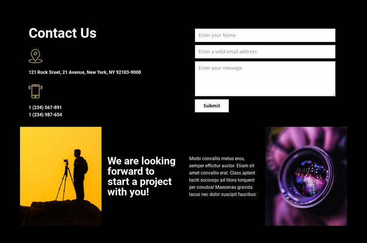 Contact us for any help Website Template