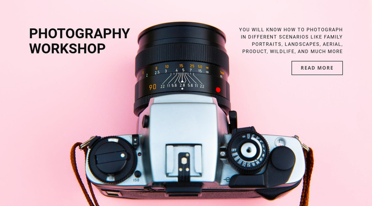 Photography workshop Website Template