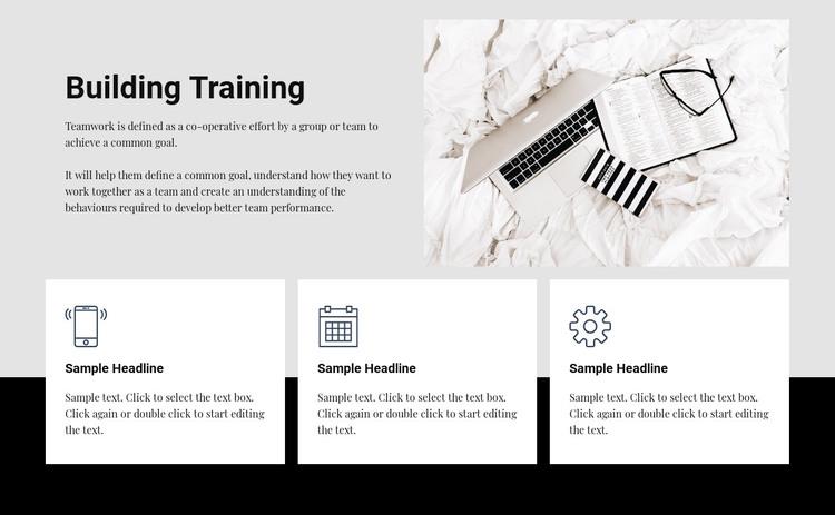 Building training WordPress Theme