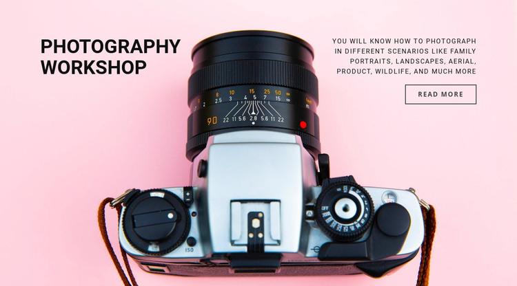 Photography workshop WordPress Theme