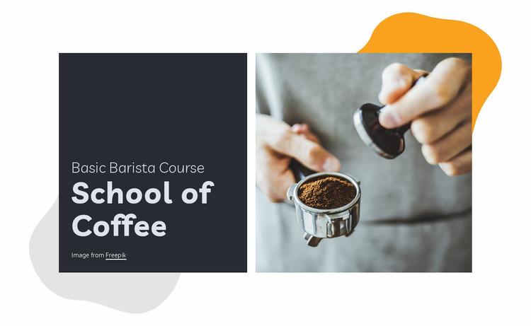 School of coffee Website Mockup