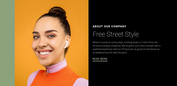 Be free in your style Website Template