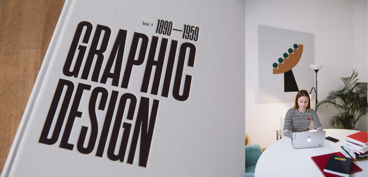 Graphic design and art WordPress Website Builder