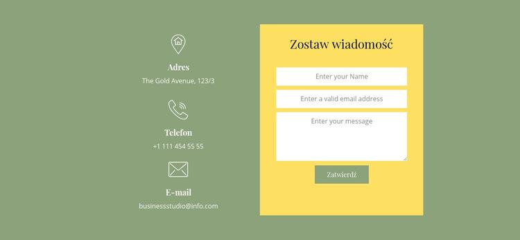 Zamów rozmowę Szablon witryny sieci Web