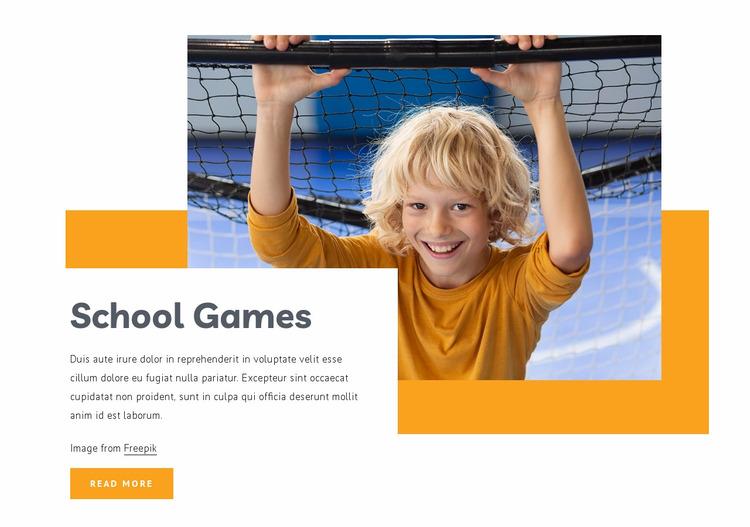 School games Website Mockup