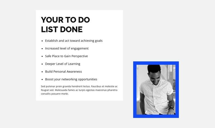 We go through the list CSS Template