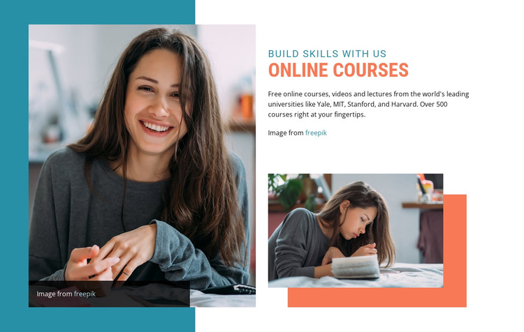 Online education courses HTML5 Template