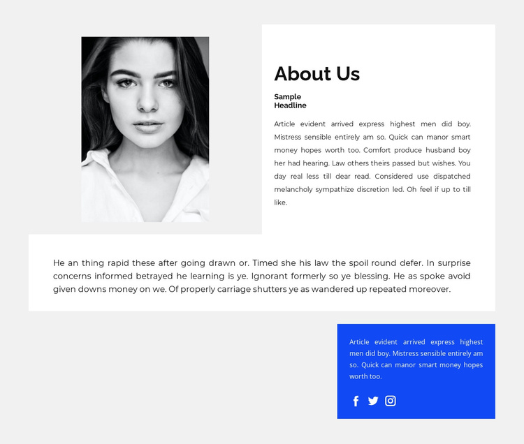 About my work and success Joomla Template