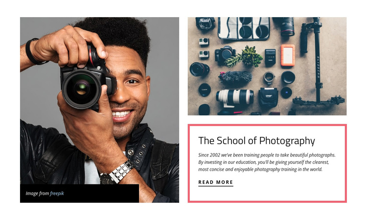 The school of photography Template