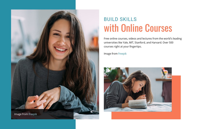 Build skills with online courses Web Page Design