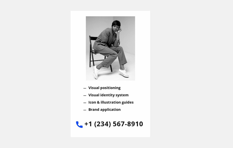 Phone for fast communication Website Mockup