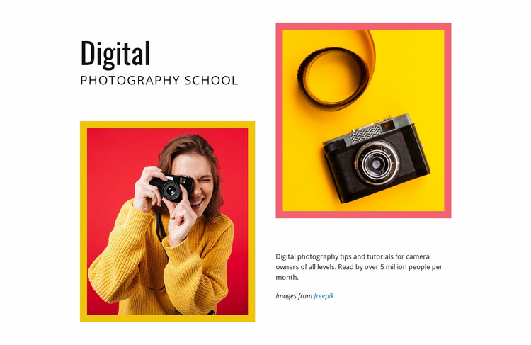 Digital photography school Website Template