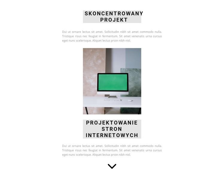 Gwarancja jakości projektu Szablon witryny sieci Web