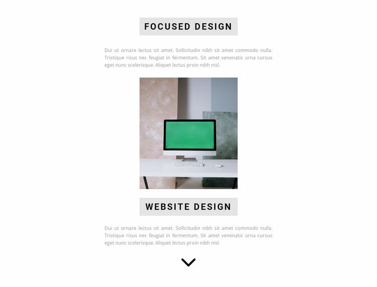 Quality design guarantee Website Mockup