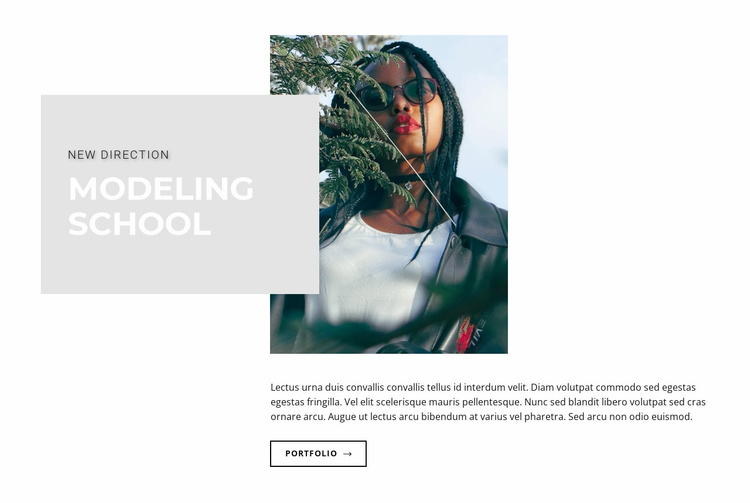 Plus size model Website Template