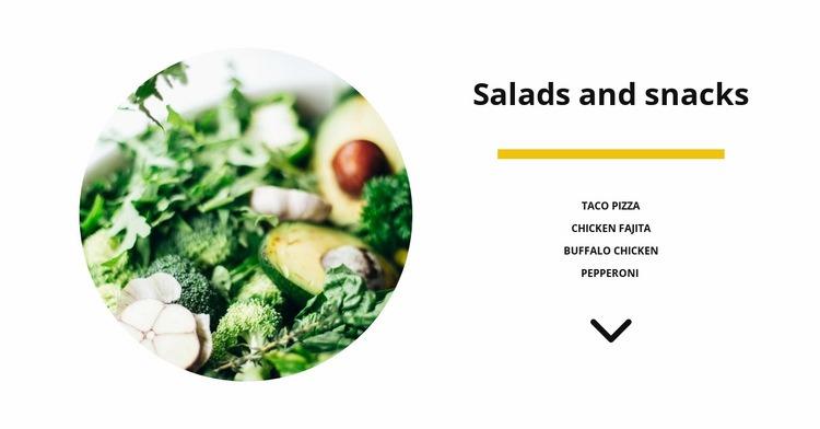 Vegetable salads Web Page Designer