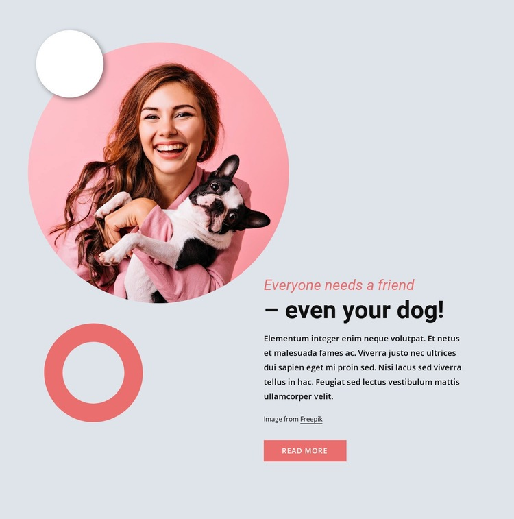 Everyone need a friend Web Page Designer