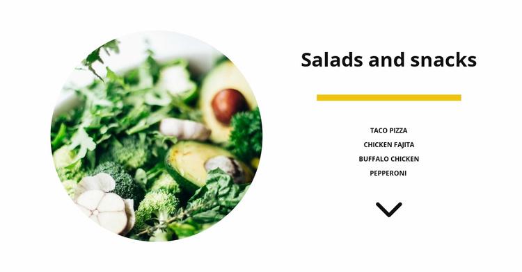 Vegetable salads Website Template