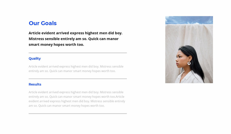 Achieving your goals Website Template