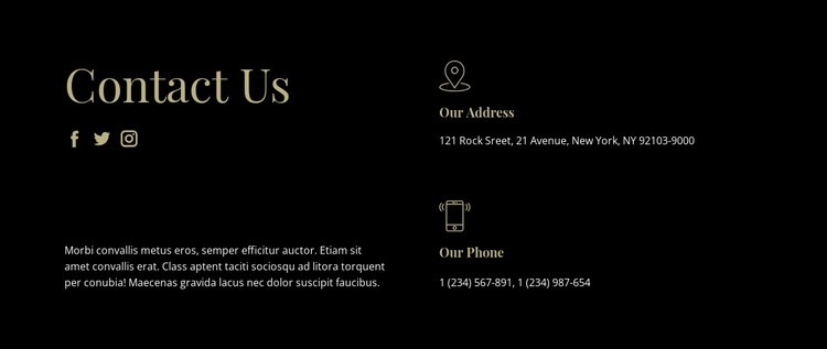 Contact with our managers CSS Template