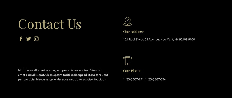 Contact with our managers Website Template