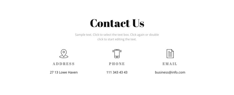 Contact details CSS Template