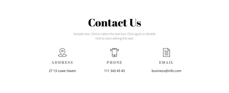 Contact details Web Design