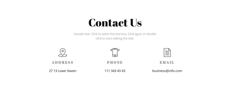 Contact details Website Builder Software
