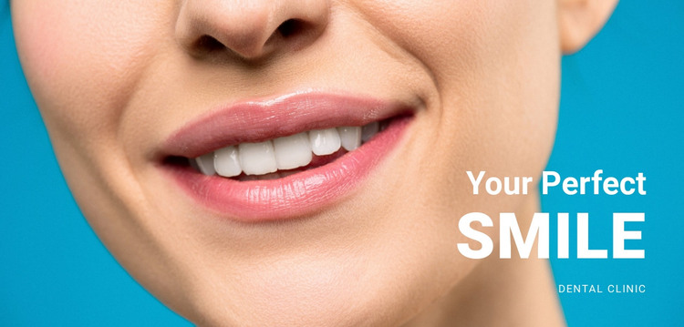 Your beautiful smile HTML Template