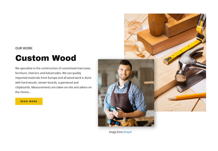 Custom wood Website Builder Software