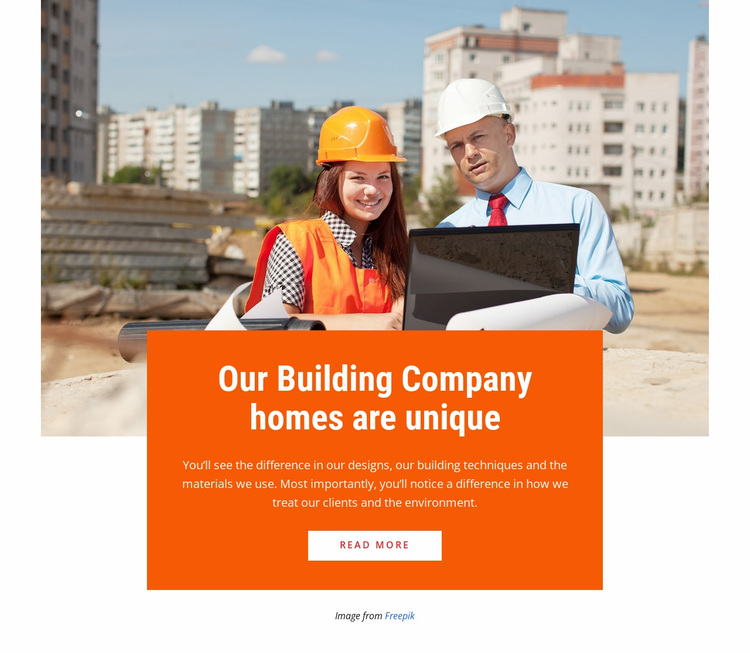 We build bridges and roads Website Design