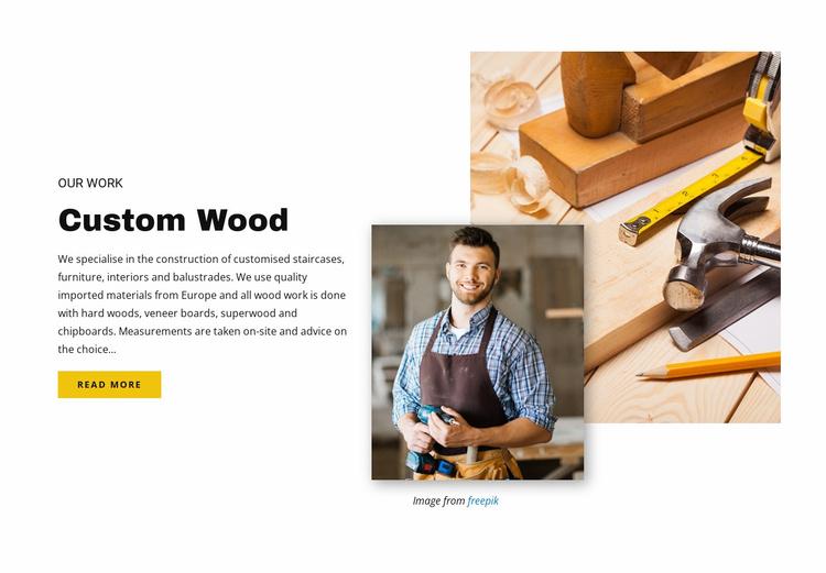 Custom wood Landing Page