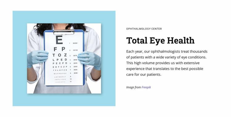 Total eye health Website Template