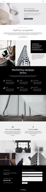 Budowanie domów wysokiej jakości Szablon witryny sieci Web