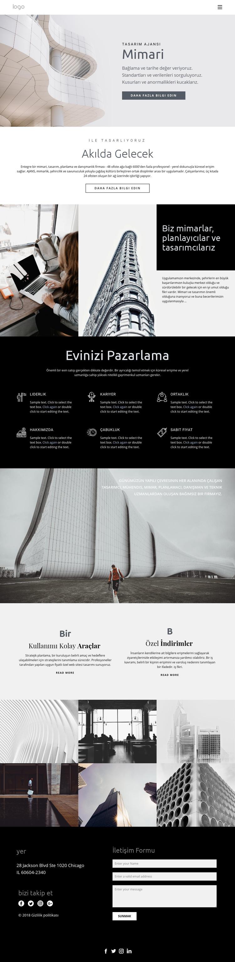 Kaliteli evler inşa etmek Web Sitesi Şablonu