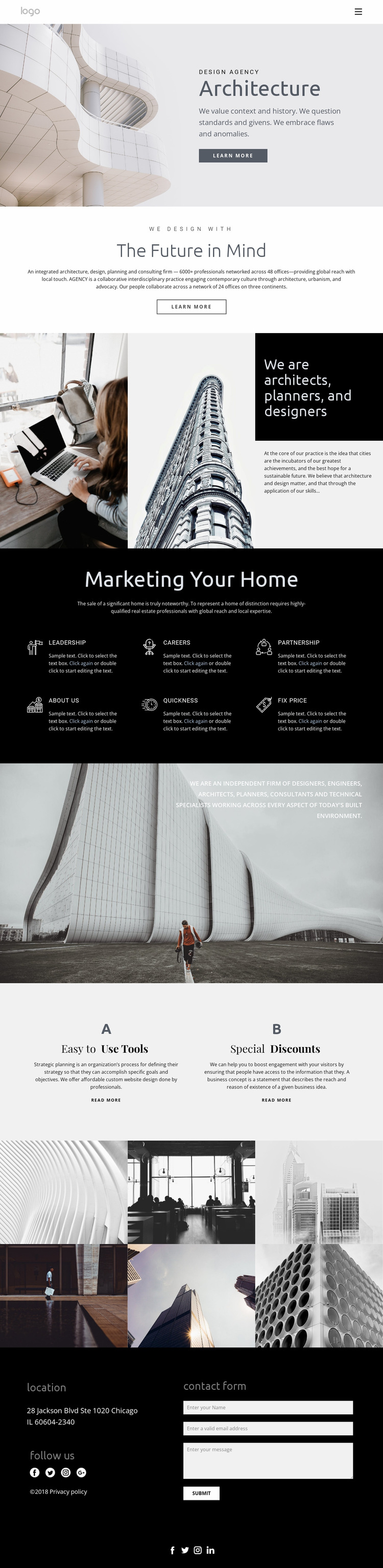 Constructive architecture Website Builder