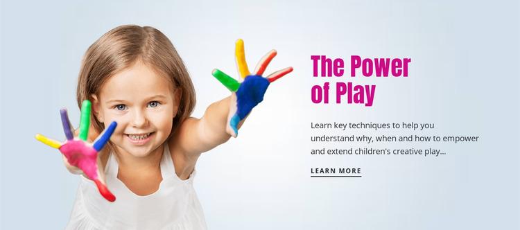 The power of play WordPress Website Builder