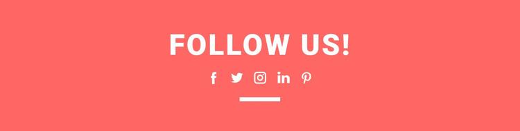 Find us on social media Joomla Template