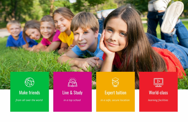 Live and study Website Template