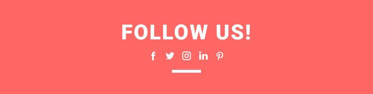 Find us on social media Landing Page