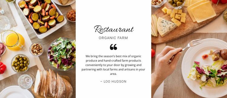 Restaurant healthy menu Website Template