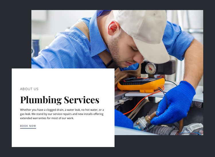 Kitchen remodeling by expert plumbers HTML Template