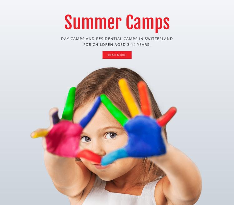 Education summer camps Joomla Template