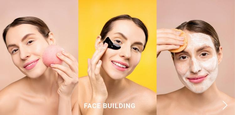 Face building Website Mockup