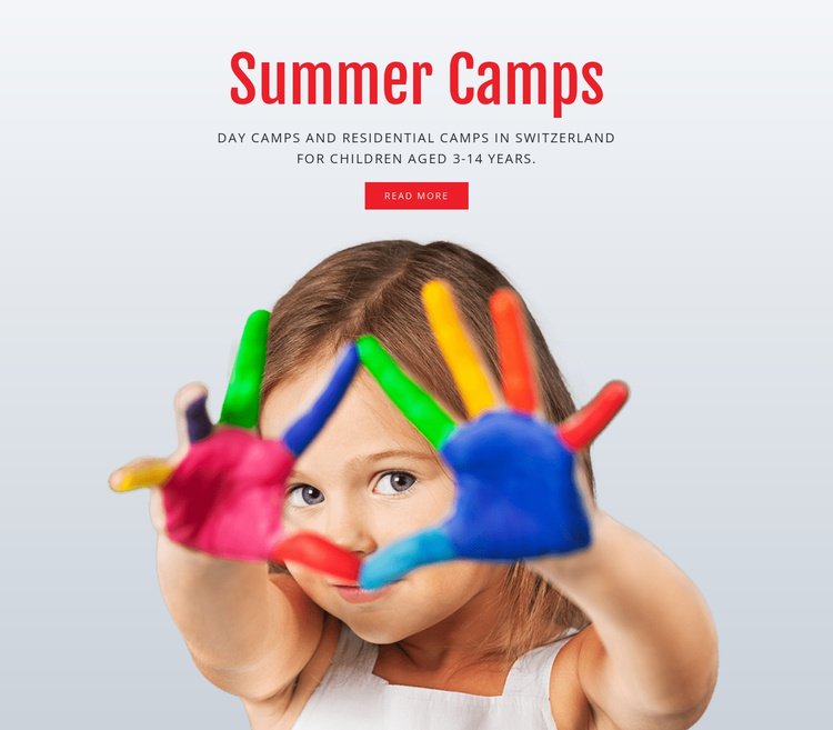 Education summer camps Website Template