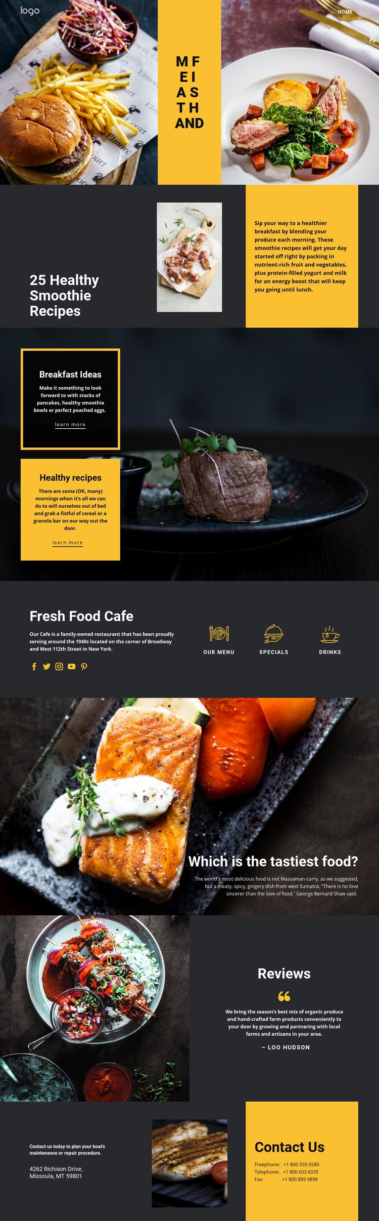 Good recipes for good food Html Code Example
