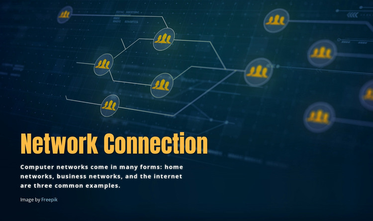 Network connection HTML Template
