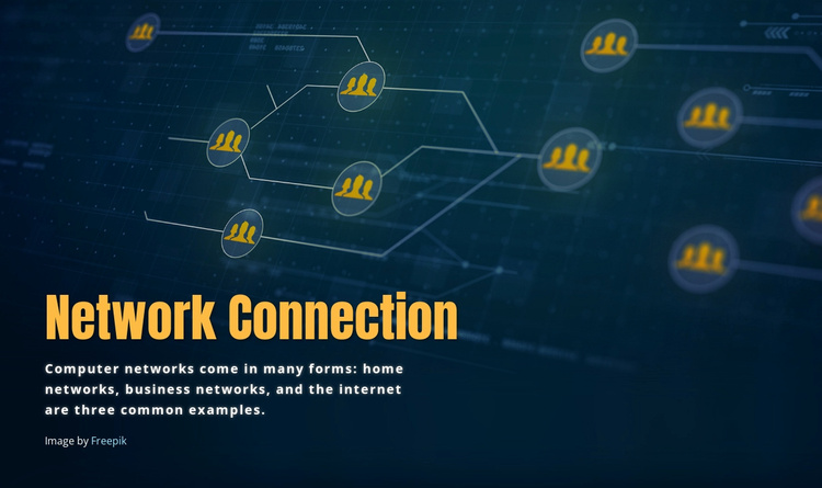 Network connection Joomla Template